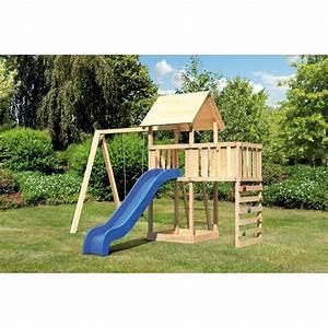Balancoire Et Toboggan : balancoire avec toboggan et cabane cabanes abri jardin ~ Melissatoandfro.com Idées de Décoration