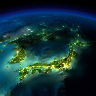 Earth From Space at Night Korea