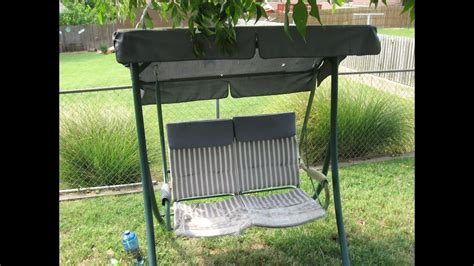 Walmart Patio Swing Covers by How To Refurbish A 2 Seat Patio Swing Walmart S03024 Swing