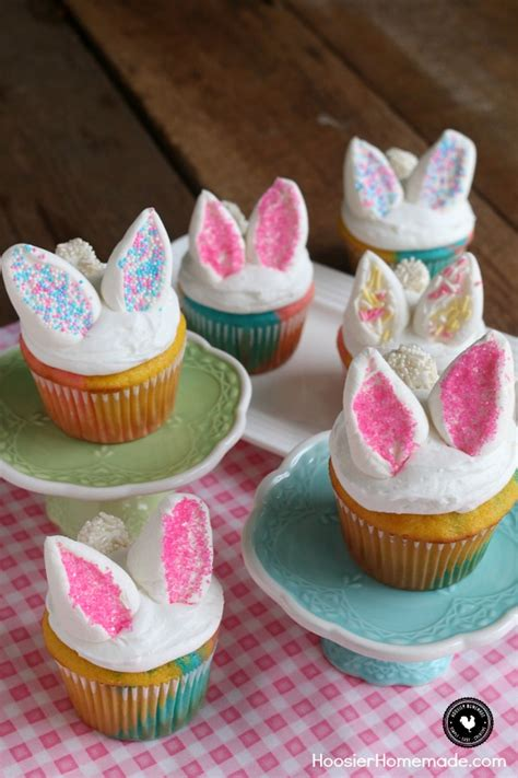 Ideas For Easter Cupcakes by Easy Bunny Cupcakes Hoosier