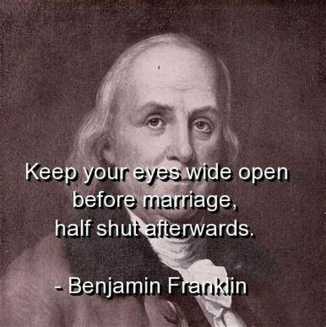 benjamin franklin quotes sayings marriage quote