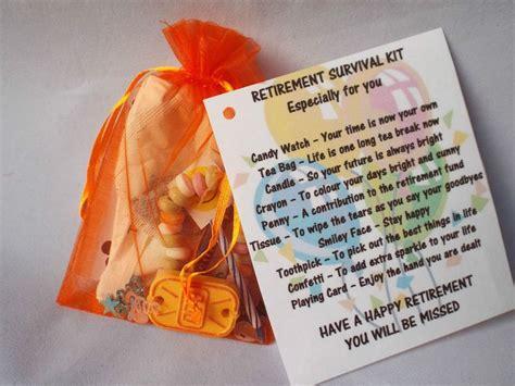 details  retirement novelty survival kit gift