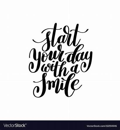 Smile Start Text Phrase Vector Royalty