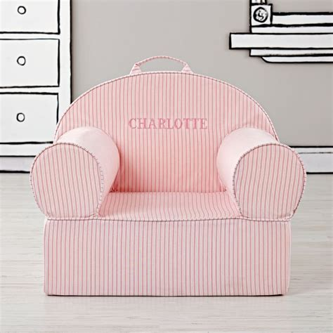 large pink ticking stripe nod chair the land of nod