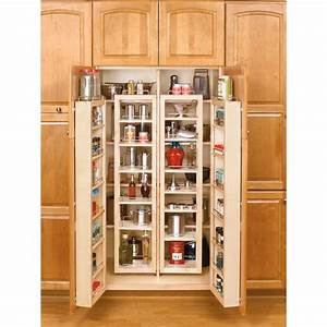 shop rev a shelf 57 in wood swing out pantry kit at lowescom With kitchen cabinets lowes with 7 piece wall art