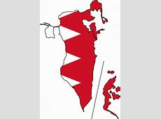 Bahrain Flag Map Mapsofnet Flag maps Pinterest