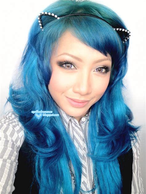aqua hair color april fool blue hair tutorial ion color