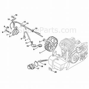 Stihl Ms 310 Chainsaw  Ms310  Parts Diagram  Ignition System