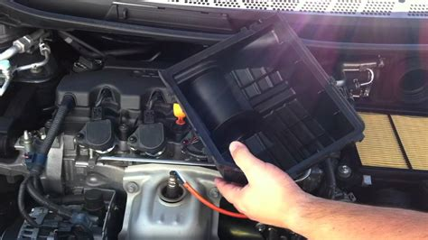 change honda civic engine air filter  gen