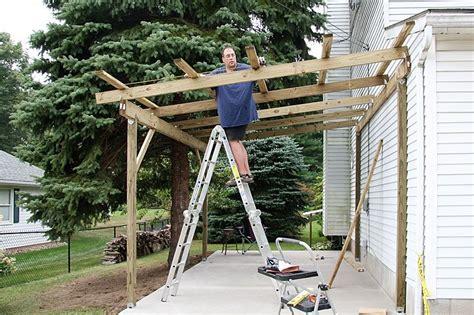 build  timber lean  carport house building