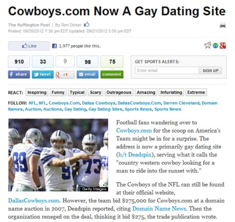 Cute headline for dating site