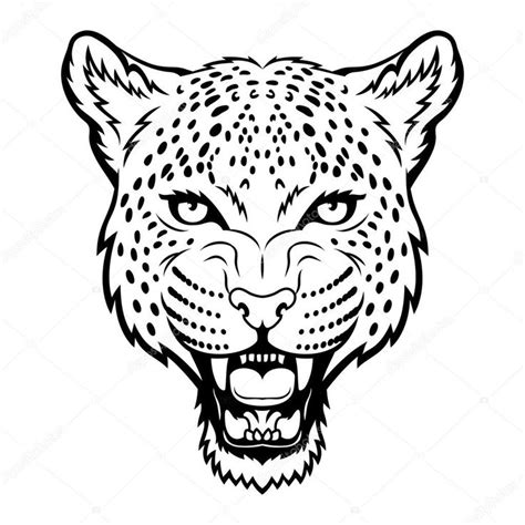 leopard silhouette  getdrawingscom   personal