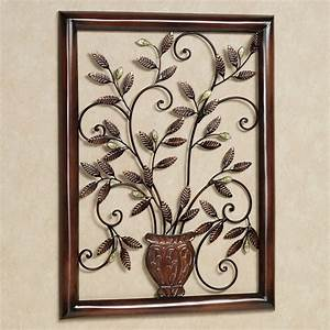 tosca floral metal wall sculpture With metal wall decor