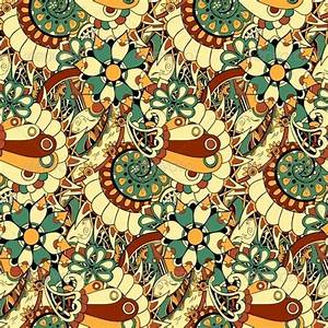 Floral Mechanism Seamless Vector By Dedron