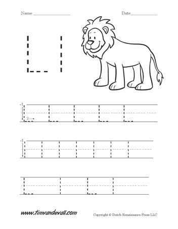 letter l worksheet tim 39 s printables