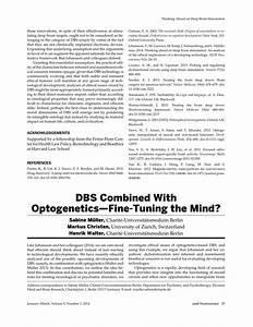 DBS Combined With Optogenetics—Fine-Tuning the Mind? (PDF ...