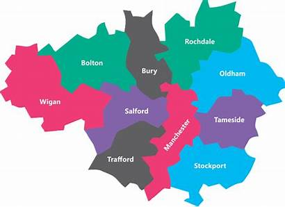 Manchester Map Greater Vip Boroughs Area Volunteer