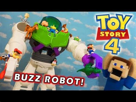 toy story 4 stop the buzz lightyear robot playset figure unboxing youtube