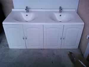 meuble salle bain double clasf With meuble salle de bain double vasque et miroir