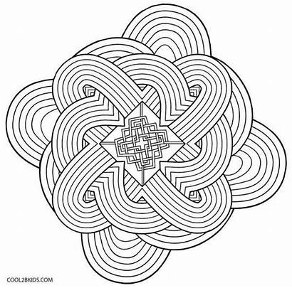 Kaleidoscope Coloring Pages Printable Cool2bkids