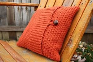 12x12 Upcycled Fall Sweater Pillow Cover by KelsCozyCorner