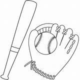 Baseball Bat Coloring Glove Colorear Ball Dibujos Beisbol Basebol Bate Dibujo Father Printable Fathers Sports Pintar Colouring Desenhos Balls sketch template