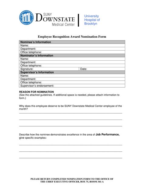 employee nomination forms  ms word  excel