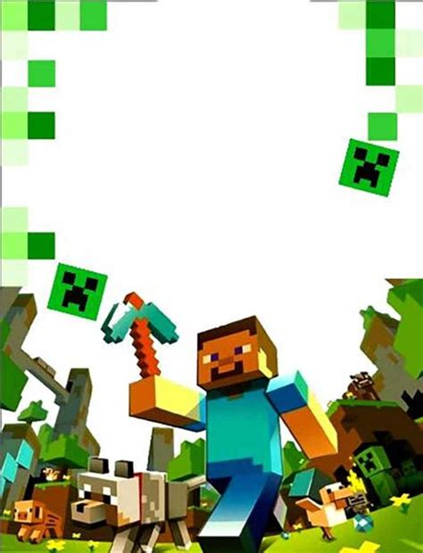 party  ease  minecraft invitations  invitation