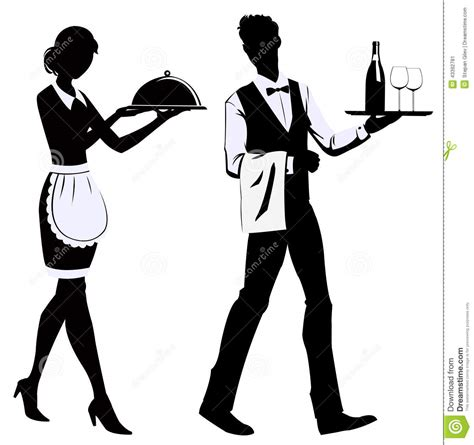 balance de cuisine silhouette waiters stock vector image of delivery