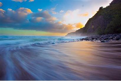 Beach Dustin Scene Hawaii Island Sand Ocean