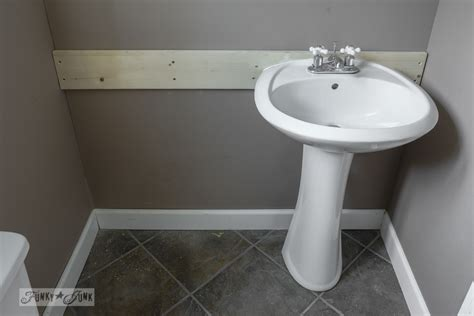 how to install a pedestal sink without wall studsfunky