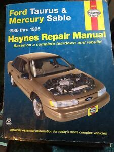 ford taurus mercury sable   haynes repair manual