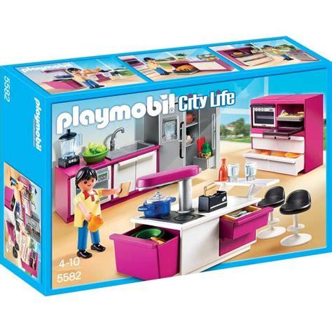 cuisine playmobile playmobil 5582 cuisine avec îlot achat vente univers