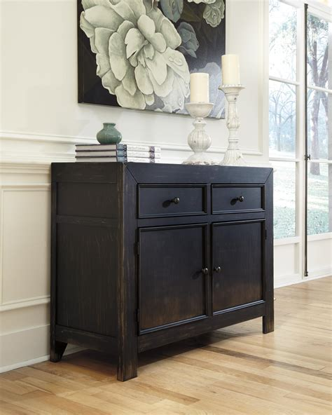 kitchen cabinets outlet distressed black accent cabinet by signature design by 3149