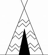 Teepee Clipart Cartoon Tent Clip Coloring Tipi Drawing Teepees Tents Indian Pee Tee Svg Native Triangle Transparent Cherokee Line Tente sketch template