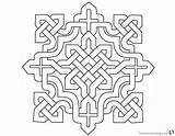 Celtic Knot Coloring Pages Square Clipart Printable Adults sketch template