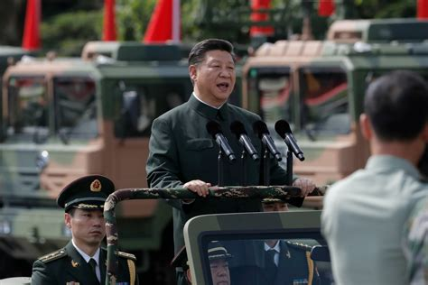 chinese president xi jinping asserts authority  honk kong  plas biggest  military