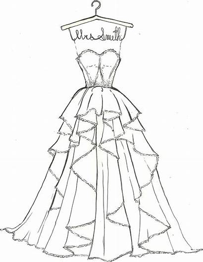 Sketch Coloring Dresses Draw Drawings Pages Sketches