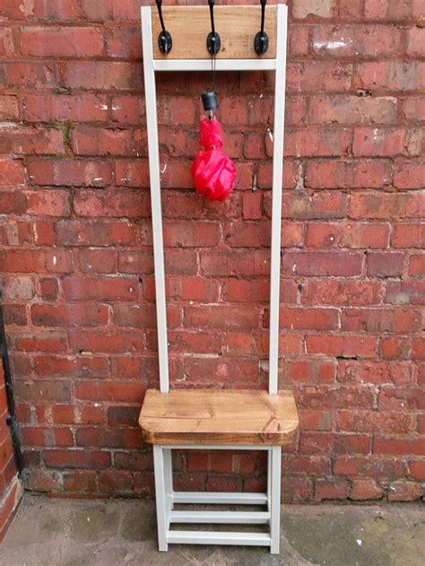 narrow hallway coat stand  seat shoe rack bench
