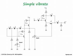 This Circuit Is A Very Simple But Good Sounding Guitar Vibrato Effect  A Similar Effect Can Be