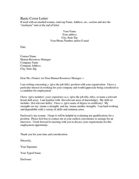 sample employment cover letter basic sample cover letter the best letter sample