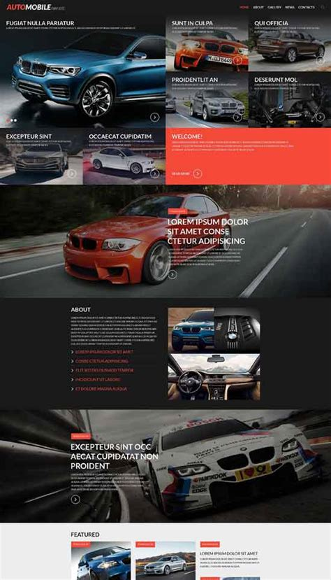 Automobile Website Design by 86 Best Car Auto Website Templates Free Premium