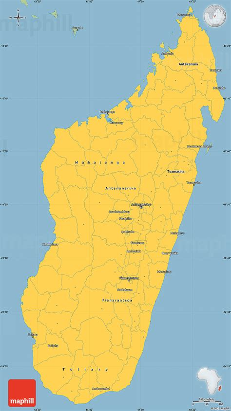 savanna style simple map  madagascar
