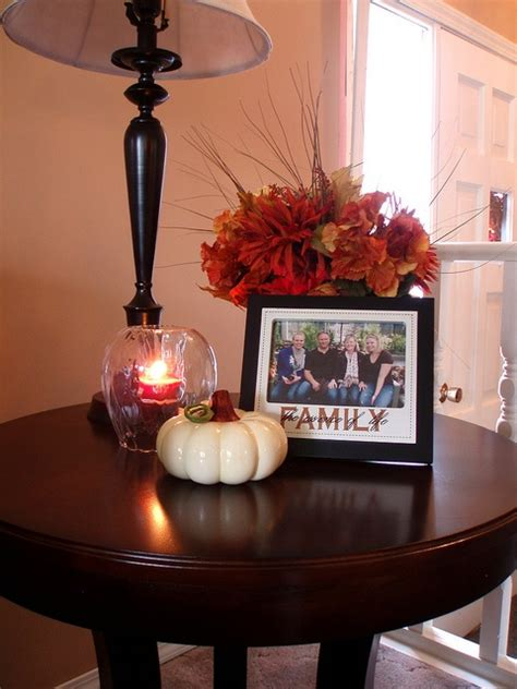 how to decorate end tables diy welcome the fall with merry decorations for your