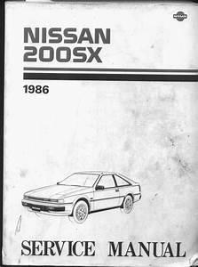 Famous Car Manual  Nissan 200sx S12 1986 Factory Service