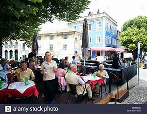 restaurant outside, Sintra, Portugal Stock Photo - Alamy