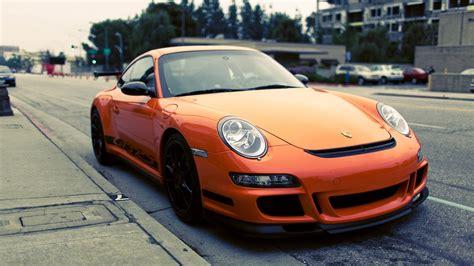 orange porsche 911 gt3 parked orange porsche 997 gt3 rs wallpaper car