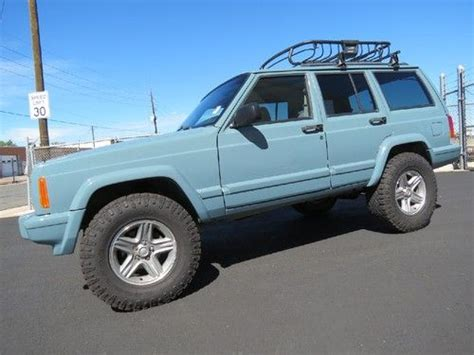 jeep cherokee xj grey purchase used 2001 jeep cherokee sport 4x4 lifted custom