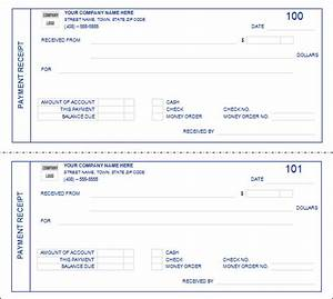 receipt of payment form template