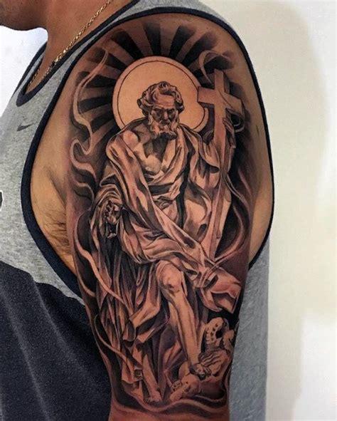 simple elegant cross tattoos design ideas  men